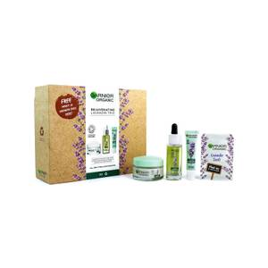 Garnier Organic Anti-Age Rejuvenating Lavandin Trio for Glowing Skin (Worth £40.00)