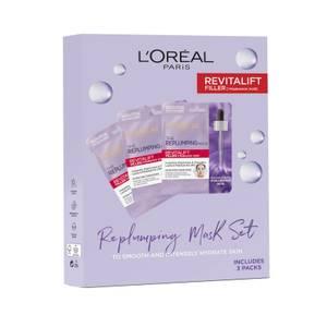 L'Oreal Paris Replumping Tissue Mask Set (Worth £15.00)