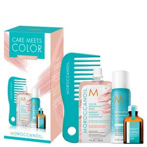 Moroccanoil Care Meets Colour Blonde Bundle with Free Comb - Rose Gold (Worth £22.55)