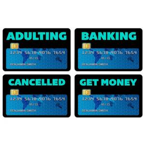 Adulting Credit Card Covers