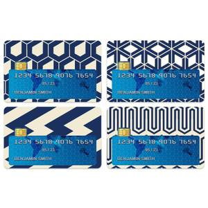 Navy Pattern Credit Card Covers