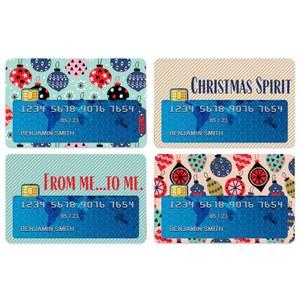 Christmas Spirit Credit Card Covers