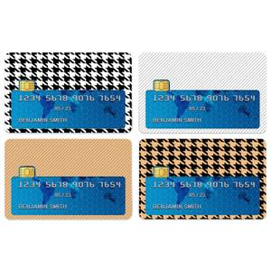 Dogtooth And Stripes Credit Card Covers