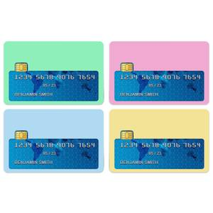 Pale Pastels Credit Card Covers