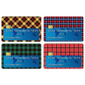 Bright Tartan Mix Credit Card Covers