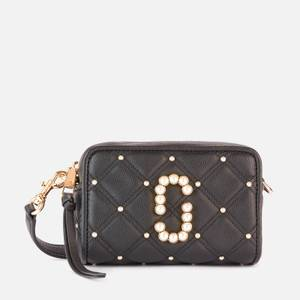Marc Jacobs Women's The Softshot 17 Quilted Pearl Bag - Black