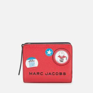 Marc Jacobs Women's The Box Peanuts Americana Mini Compact Wallet - Red Multi
