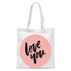 Planeta4 Love You Tote Bag - White