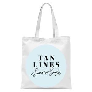Planeta4 Tan Lines Sand & Smiles Tote Bag - White