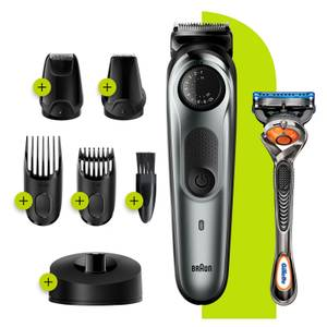 Beard Trimmer with 4 attachments and Gillette Razor