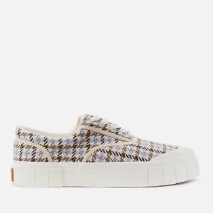 Good News Men's Opal Check Sustainable Trainers - Beige/Blue
