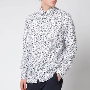 Ted Baker Men's Pastry Floral And Bird Print Shirt - White