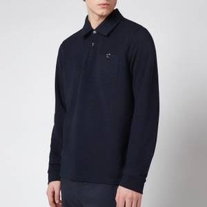 Ted Baker Men's Excer Long Sleeve Polo Shirt - Navy