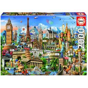 European Landmarks Jigsaw Puzzle (2000 Pieces)
