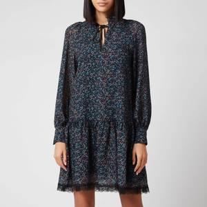 See by Chloé Women's Multi Floral Print Dress - Multi Blue