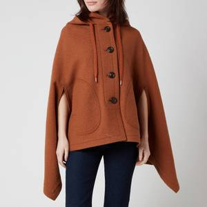 See by Chloé Women's Hooded Cape Jacket - Pottery Brown