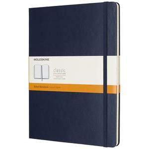 Moleskine Classic Ruled Hardcover XL Notebook - Sapphire Blue