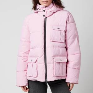 Ganni Women's Heavy Tech Short Coat - Sweet Lilac