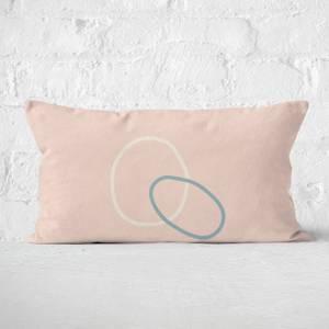 Circle Outline Rectangular Cushion
