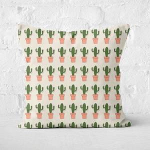 Spiky Cactus Repeat Square Cushion