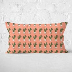 Cute Cactus Polka Rectangular Cushion