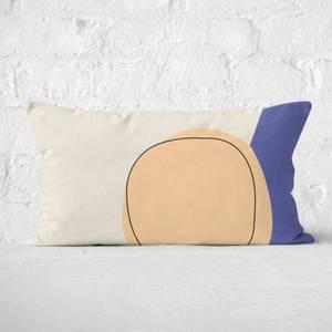 Circular Abstract Rectangular Cushion