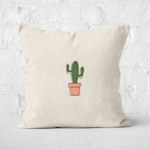 Spiky Cactus Square Cushion
