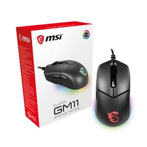 MSI Clutch GM11 6 Button RGB Optical Gaming Mouse - Black