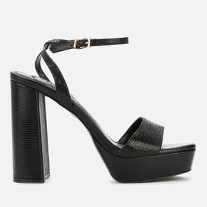 Dune Women's Malin Suede Heeled Sandals - Black