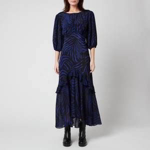 RIXO Women's Cheryl Dress - Zebra Navy