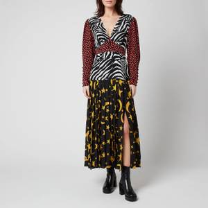 RIXO Women's Thea Dress - Moonlight Zebra