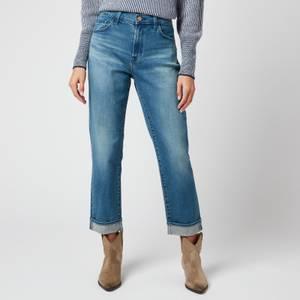 J Brand Women's Tate Boy Fit Jeans - Sorority Raze