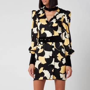 De La Vali Women's Rianna Dress - Black Art Deco Floral