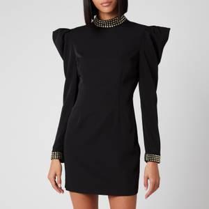 De La Vali Women's Baltimore Dress with Diamond Cuff & Collar - Black Solid