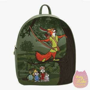 Loungefly Disney Robin Hood Forest Mini Backpack - VeryNeko Exclusive