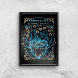 Donjons & Dragons Monster Manual Giclee Art Print