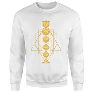 Dungeons & Dragons Celestial Dice Sweatshirt - White
