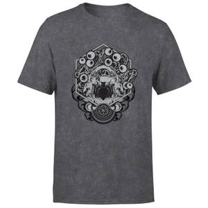 Dungeons & Dragons Beholder Unisex T-Shirt - Schwarz Acid Wash