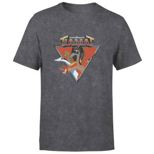 Donjons & Dragons D&D Cartoon Tiamat unisexe t-shirt - noir délavé