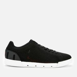 SWIMS Men's Breeze Tennis Knitted Trainers - Black/White