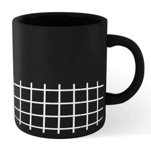 Check Large Mug - Black
