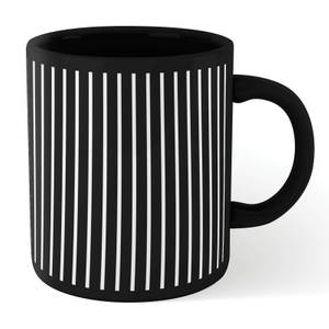 Stripes Full Mug - Black