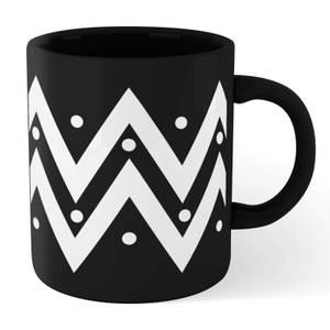 Zig Zag Dots Mug - Black