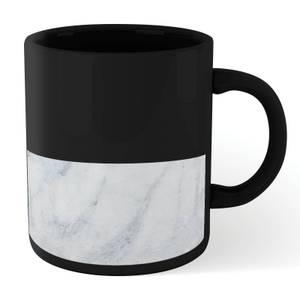 White Marble Mug - Black
