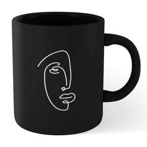 Face Outline Mug - Black