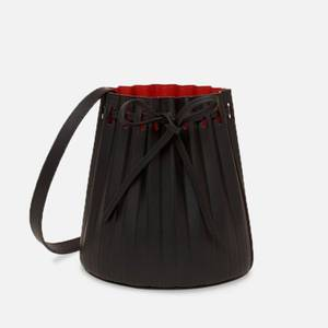 Mansur Gavriel Women's Mini Pleated Bucket Bag - Black/Flamma