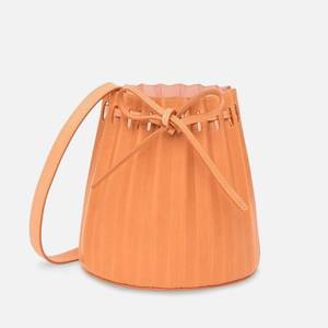Mansur Gavriel Women's Mini Pleated Bucket Bag - Cammello/Rosa