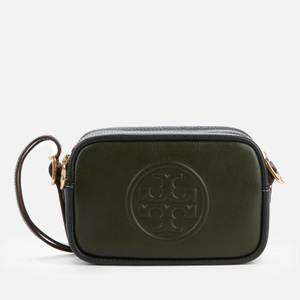 Tory Burch Women's Perry Bombe Double Strap Mini Bag - Green/Deep Kelp