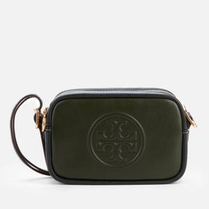 Tory Burch Women's Perry Bombe Double Strap Mini Bag - Green/Deep Kelp