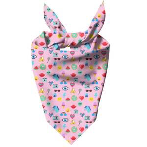 Pink Icons Dog Bandana